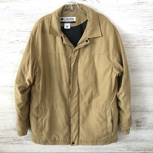 COLUMBIA Faux Suede Insulated Coat Large